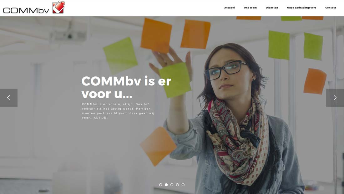 website COMMbv Schijndel