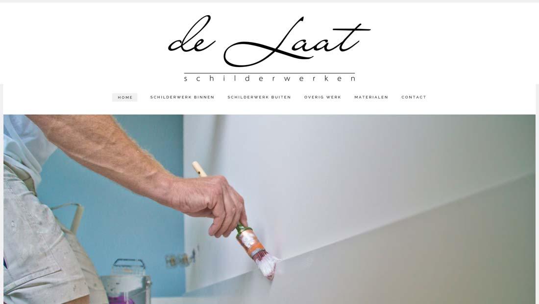 Worpress website de Laat schilderwerken