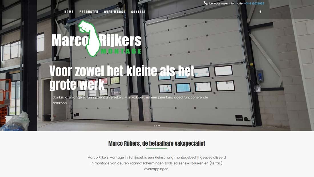 Wordpress website Marco Rijkers montage