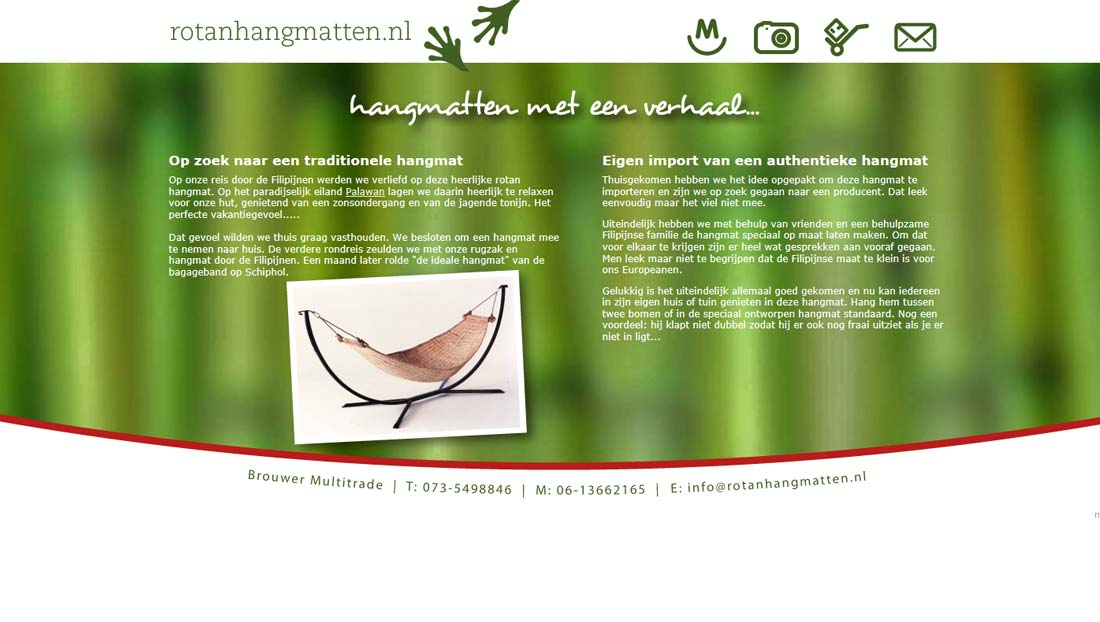 logoontwerp en website rotanhangmatten.nl