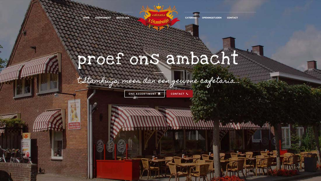 Wordpress website 't Stamhuijs Schijndel