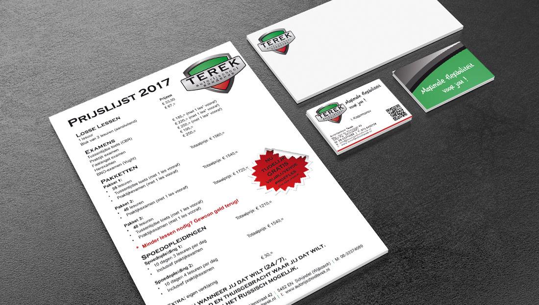 drukwerk en logoontwerp Terek