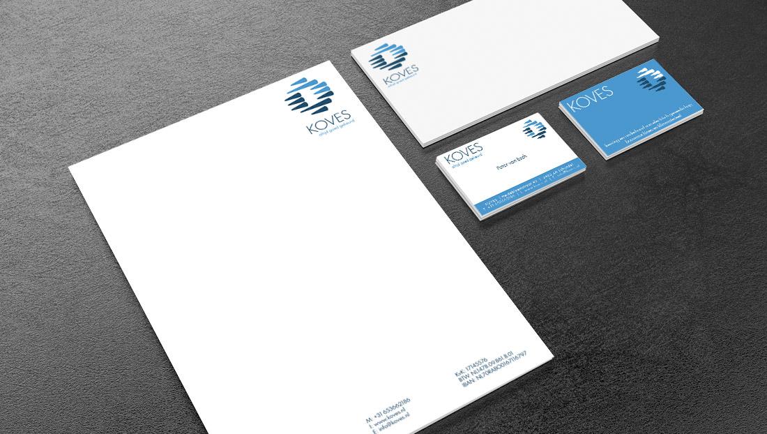 Drukwerk Koves (visitekaartje, briefpapier)